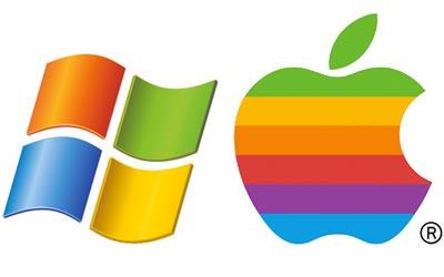 windowsとAppleのロゴ