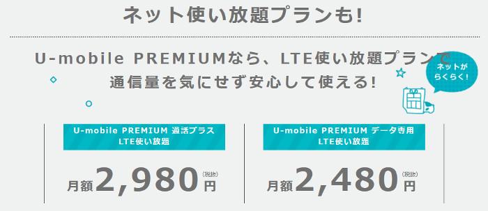ネット使い放題プランU-mobile