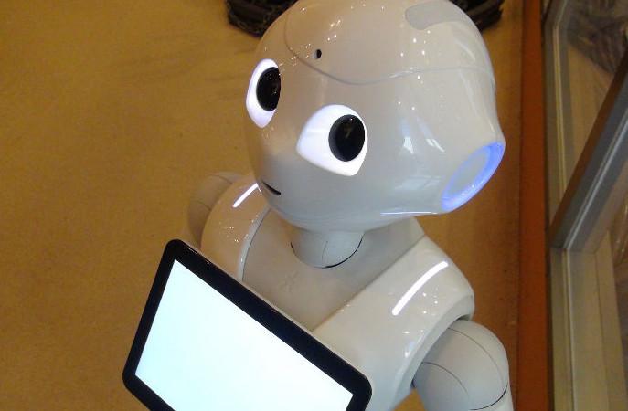 ロボットのペッパー