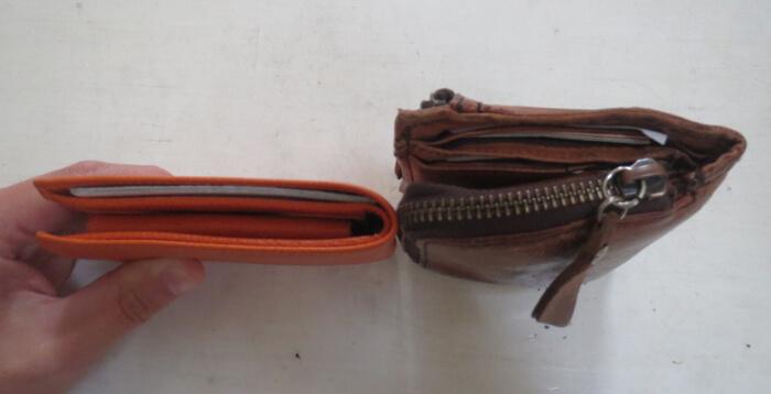 イルビゾンテとポーターの財布の厚さ比較
