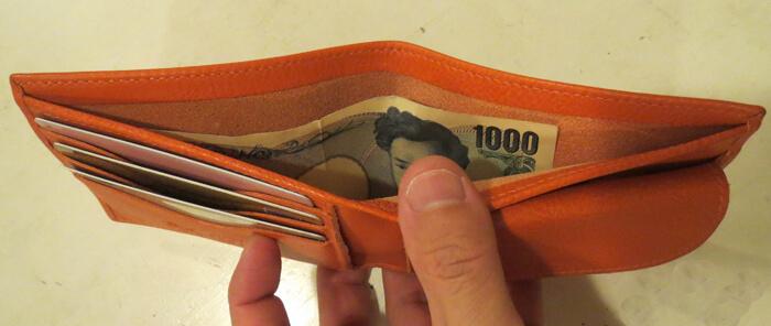 イルビゾンテ財布のお札入れ