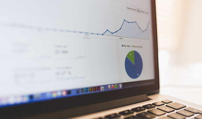 ブログのアクセスアップ対策の成果グラフ