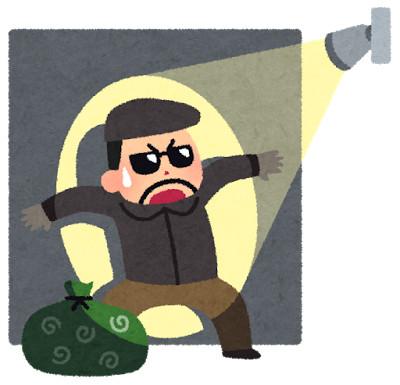 泥棒に反応した防犯センサー