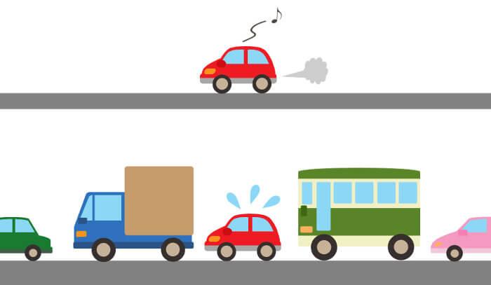 交通渋滞のイラスト