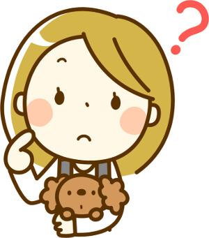 トイプードルを抱っこしている女の子