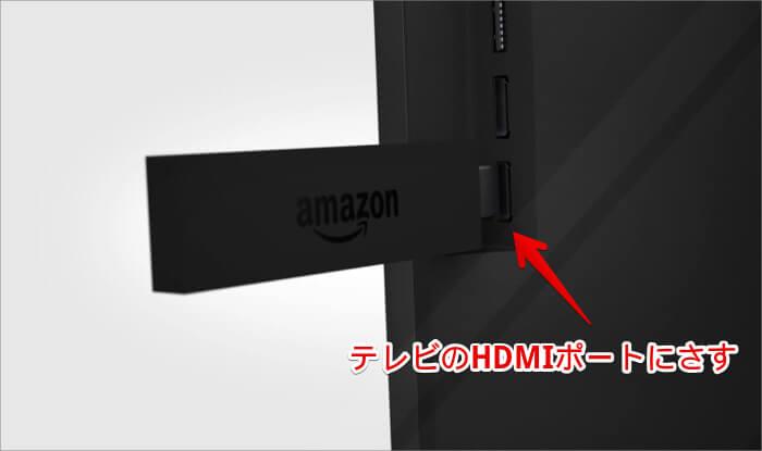 AmazonのFire TV Stickとテレビの接続