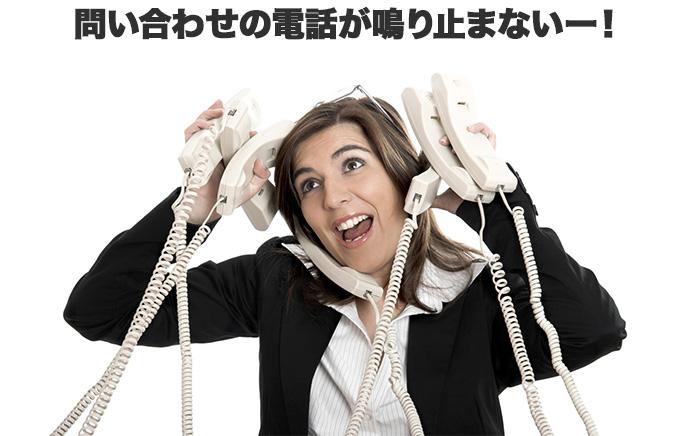 問い合わせの電話が鳴り止まない