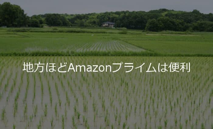 田舎や地方ほどAmazonプライムは便利